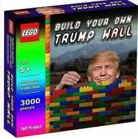Memes, Legos, and 🤖: LEGO  A Ages  5-+  Build  Your Own  Wall  Trump  3000  pieces  Taff Project