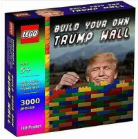 Lego, Memes, and Legos: LEGO  A Agus  5-  EGO Build  Your Own  Trump Wall  3000  pieces  Taff Project  BUILD YOUR DAN  WALL Tips: @mr_gummesson