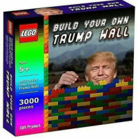 Lego, Legos, and Project: LEGO  Agus  5+  Build  Your Own  Trump  Wall  3000  pieces  Taff Project  BUILD YOUR DAN  TRUMP  WALL