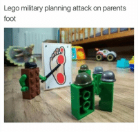 lego: Lego military planning attack on parents  foot