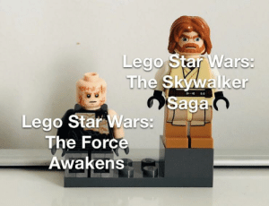 Lego, Star Wars, and Star Wars: The Force Awakens: Lego Star Wars:  The Skywalker  Saga  Lego Star Wars:  The Force  Awakens High brick obtained.