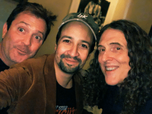 Hugged @alyankovic on his birthday, even though the @thomaslennon trickster god that periodically appears on my right shoulder and gives me bad advice told me to stay home ❤️❤️❤️ https://t.co/kHdfVXr6XX: LEK  7HE Hugged @alyankovic on his birthday, even though the @thomaslennon trickster god that periodically appears on my right shoulder and gives me bad advice told me to stay home ❤️❤️❤️ https://t.co/kHdfVXr6XX