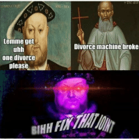 Machining: Lemme get  uhh  one divorce  please  ANG REx  Divorce machine broke