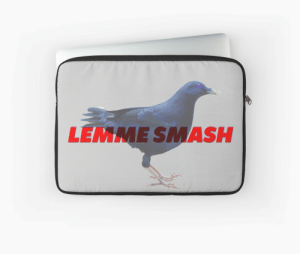 "BiRbs - LEMME SMASH bird meme"" Laptop Sleeves by Manuele Sala ...: LEMME SMASH BiRbs - LEMME SMASH bird meme"" Laptop Sleeves by Manuele Sala ..."
