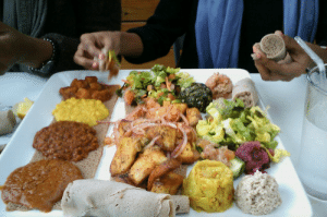 Food, Tumblr, and Best: lenaalwayz:  The best food ever on Earth is Ethiopian! 3