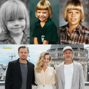 Leonardo DiCaprio, Margot Robbie and Brad Pitt with the same haircut when they were children: Leonardo DiCaprio, Margot Robbie and Brad Pitt with the same haircut when they were children