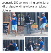 Leonardo DiCaprio running up to Jonah  Hill and pretending to be a fantaking  pictures Channing Tatum would never do this to him (@mytherapistsays)
