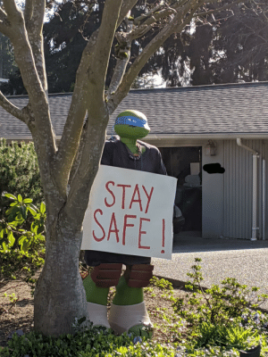 Leonardo making sure you all stay safe out there: Leonardo making sure you all stay safe out there