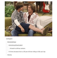 Funny, Memes, and Old Man: leothegiant  followbadblogs  imheretowyeDeactivated  At least he still has Jackson  it's funny because that is a 30 year old man sitting on billy ray's lap  Hehehe I haven't posted much today but goodnight