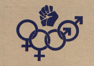 lesbianherstorian: a logo of the detroit gay liberation front,1970: lesbianherstorian: a logo of the detroit gay liberation front,1970