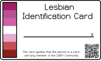 Community, Lgbt, and Person: Lesbiar  Identification Card  This card signifies that this person is a card  carrying member of the LGBT+ Community