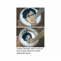 Memes, 🤖, and Anime Characters: Lesson learned, don't suck on  one of your favorite anime  character faces. No matter how hot he is lmao this made me choke 😂😂😂💀 yurikatsuki victornikiforov yurionice victuri
