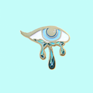 lesstalkmoreillustration: Crying Eye Enamel Pin By PointsAndPlaces On Etsy   *More Things & Stuff   : lesstalkmoreillustration: Crying Eye Enamel Pin By PointsAndPlaces On Etsy   *More Things & Stuff