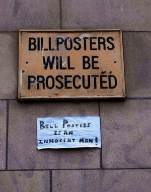 Let's fight for bill posters!: Let's fight for bill posters!