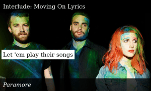 Paramore-Paramore-Interlude: Moving On