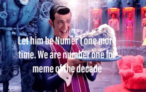 awesomesthesia:  Rip the number one meme: Let him be Numer i one mor  LAtime. We are umber one fo  meme othe decade awesomesthesia:  Rip the number one meme