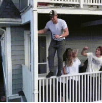 Let me just jump off this second story railing, WCGW?: Let me just jump off this second story railing, WCGW?