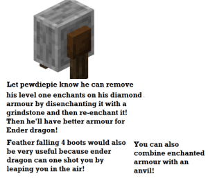 Let Pewdiepie Know He Can Remove His Level One Enchants on His