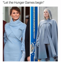"""The Hunger Games, The Hunger Games, and Girl Memes: Let the Hunger Games begin"""" And may the odds be ever in our favor (rp: @girlsthinkimfunny) hungergames thehungergames inauguration omg"""