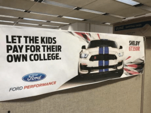 laughoutloud-club:  Good advice for all you parents: LET THE KIDS  PAY FOR THEIR  OWN COLLEGE. Lz  SHELBY  D GT350R  FORD PERFORMANCE laughoutloud-club:  Good advice for all you parents