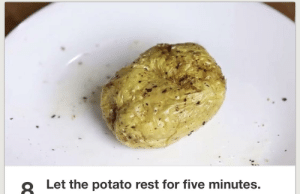 Let the potato rest for five minutes. How to snooze your morning alarm