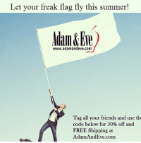 Ayyye 👅👅Get 50% OFF almost any adult item & FREE U.S.-CAN Shipping by using offer code LADY @AdamandEve's Website. 18+ Only: Let your freak flag fly this summer!  www.adamandeve.com  Tag all your friends and use the  code below for 50% off and  FREE Shipping at  AdamAndEve.com Ayyye 👅👅Get 50% OFF almost any adult item & FREE U.S.-CAN Shipping by using offer code LADY @AdamandEve's Website. 18+ Only