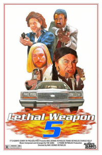 its always sunny: Lethal-weap  Weapon  IT'S ALWAYS SUNNY IN FALADELPHIAPresents MAC DENNIS REYNOLDS FRANK REYNOLDS CHARLIE KELLY  Music Composed and Arranged By THE GANG A FRANK REYNOLDS Production  Directed by MAC DENNIS REYNOLDS  RI