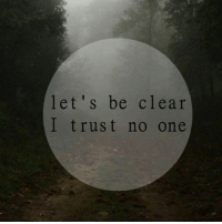 trust no one: let's be clear  I trust no one