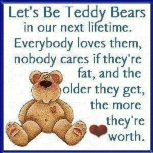 Lets Be Teddy Bears In Our Next Lifetime Everybody Loves Them