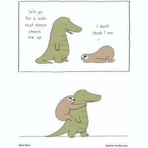 Tumblr, Blog, and Http: lets go  for a walk.  that always  cheers  me up  l don't  think I can  O liz climo  lizclimo. tumblr.com awesomacious:  This is too damn adorable