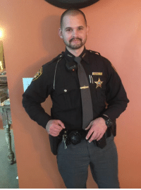 Let's hear it for this Deputy out working the Holliday. No shave November.: Let's hear it for this Deputy out working the Holliday. No shave November.