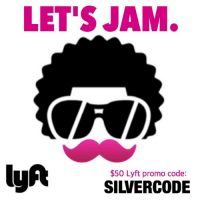 LET'S JAM lyA SILVERCODE $50 Lyft Promo Code Don't Drink and Drive
