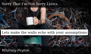 Whitney Peyton-Coffee Cups and Combat Boots-Sorry That I'm