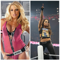 """Canadian Tribute Month of Wrestling: Trish Stratus might be the greatest Diva to ever set foot inside a WWE ring.  Gorgeous, powerful and talented, the Canadian beauty was easy on the eyes but tough on opponents. This rare mix of good looks and skill helped Trish nab a record seven Women's Championships during her run with WWE.  Stratus' reputation as one of the greatest females in sports-entertainment history did not come easily though. First achieving success as a fitness model, she entered WWE in March 2000 as a manager, leading the careers of Test, Albert and Val Venis. Immediately, the WWE Universe could tell she was someone worth looking at it, but Trish was dismissed as just that — eye candy.  She proved she was more than just a pretty face when she started competing in 2001. In November of that year, Trish captured her first Women's Championship when she won a Six-Pack Challenge Match at Survivor Series. The gorgeous Diva won that title seven times over the next five years, defeating top competitors like Lita, Molly Holly and Victoria in the process.  Trish announced her retirement from the ring in 2006 and competed in her last match at Unforgiven in September, beating Lita to win the Women's Championship for the final time. In the years that followed, the beloved beauty has regularly returned to WWE, including tagging with """"Jersey Shore"""" troublemaker Nicole """"Snooki"""" Polizzi at WrestleMania XXVII, appearing as a trainer on the 2011 relaunch of """"Tough Enough"""" and taking her rightful place in the WWE Hall of Fame in 2013: Let's no h Canadian Tribute Month of Wrestling: Trish Stratus might be the greatest Diva to ever set foot inside a WWE ring.  Gorgeous, powerful and talented, the Canadian beauty was easy on the eyes but tough on opponents. This rare mix of good looks and skill helped Trish nab a record seven Women's Championships during her run with WWE.  Stratus' reputation as one of the greatest females in sports-entertainment history did not come easily t"""