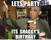 Funny Birthday Meme: LETS PARTY A  ITS SHAGGYYS  BIRTHDAY  memes com