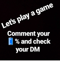 Let's play a little game 😈: Lets play a game  Comment your  % and check  your DM Let's play a little game 😈