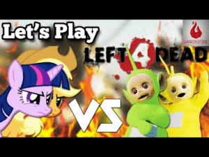 gamersfire:  We take on the hordes of … Teletubbies? As Ponies? It's Let's Play Modded Left 4 Dead 2 gameplay! With guest appearances by Eric Cartman, Johnny Bravo, Foxy, and many more! https://gamersfire.com/my-little-pony-vs-teletubbies-lets-play-modded-left-4-dead-2/ : Let's Play  GAMERŞFIRE  LEFT READ  VS gamersfire:  We take on the hordes of … Teletubbies? As Ponies? It's Let's Play Modded Left 4 Dead 2 gameplay! With guest appearances by Eric Cartman, Johnny Bravo, Foxy, and many more! https://gamersfire.com/my-little-pony-vs-teletubbies-lets-play-modded-left-4-dead-2/