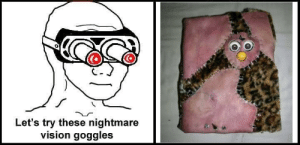 Vision, Nightmare, and Goggles: Let's try these nightmare  vision goggles https://t.co/fBXJE7Yu6d