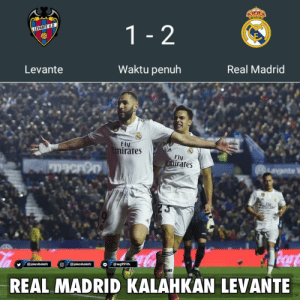 Gareth Bale, Memes, and Real Madrid: Levante  Waktu penuh  Real Madrid  Fly  rates  Fly  rates  REAL MADRID KALAHKAN LEVANTE FT: Levante 1-2 Real Madrid ⚽ 43' Karim Benzema, PK (0-1) ⚽ 60' Roger (1-1) ⚽ 78' Gareth Bale, PK (1-2) El Real menang tipis di markas Levante 👏 Cuplikan gol nantikan di @penontonbola!