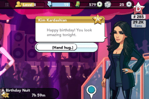 Ass, Birthday, and Bitch: Leve  19  579  25  # 285  29.2K  fans  Kim Kardashian  Happy birthday! You look  amazing tonight.  (Hand hug.)  Birthday Nuit  7h 59m allisonargentsarrows:  This bitch put me in an ugly-ass champagne floor gown that looks terrible with my skin tone and she is wearing a cardigan to my birthday party.  I refuse to be disrespected by this.