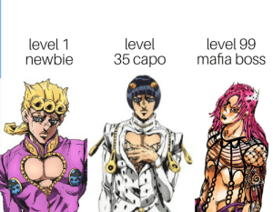 Anime, Capo, and Waiting...: level  35 capo  level 99  mafia boss  level 1  newbie Was waiting way too long to post this