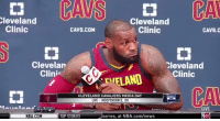 """let me hear you say it"" lmaooooo LeBron the goat https://t.co/RqP1hhaNwg: leveland  Clinic  Cleveland  Clinic  CAVS.COM  CAVS.C  Clevelan  Clini  Cleveland  FLAND Clinic  CA  CLEVELAND CAVALIERS MEDIA DAY  LIVE INDEPENDENCE, OH  LIVE  TV  NBA.COM  TOP STORIES  series, at NBA.com/news ""let me hear you say it"" lmaooooo LeBron the goat https://t.co/RqP1hhaNwg"