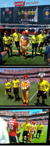 Only in America are teams led out by Ronald McDonald 😩😭😂 https://t.co/jzTxISfaJg: Levi's  TAG  CHAMPIONS  CUP  0  0:00  1ST  Heineken  SONY  THE  BUD  LIGHT  BUD LIGHT  LI   SONY  TEN 2 Only in America are teams led out by Ronald McDonald 😩😭😂 https://t.co/jzTxISfaJg