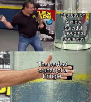 Anxiety, Depression, and Loneliness: LEX  APE  Depression  Anxiety  Suicidal  Thoughts  Loneliness  The perfect  crunch of a  Pringle