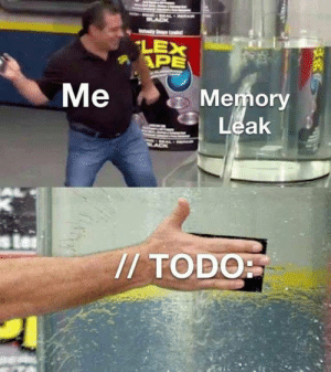 A TODO buys you time.: LEX  APE  Me  Memory  Leak  /TODO A TODO buys you time.