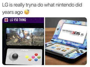 Nintendo did it better smh: LG is really tryna do what nintendo did  years ago  LG V50 THINQ Nintendo did it better smh