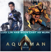 Memes, Black, and Guess: LG SOD C. MARVEL UJ NINE  LUDI LIN HAS BEEN CAST AS MURK  A Q U A  M A N  2 O 18 YEESSS ! A PowerRanger IN THE DCEU…IT'S POSSIBLE ! 😍👏🏽 LudiLin (Zack The Black Ranger) has been Cast as Murk in The 2018 AquaMan Movie Starring JasonMomoa and Directed by JamesWan ! 😱 @LudiLin was actually my FanCast for Garth ( Tempest - AquaLad) in The DCEU…But I guess this works too. 😂 This Cast just keeps getting better and better…Comment Below what DCComics Characters you would like to see The Rest of The PowerRanger Cast Play in The … DCFilms ! DCExtendedUniverse 🔱 DC