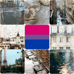 Deer, Lgbt, and Mood: lgbt-mood:  Bisexual / with rain and France themes for anon (Helper Deer)