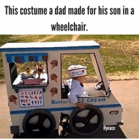 This is awesome! peace: lhIS Costume a dad made for hiS Son in a  wheelchair  Buster  CE CREAM  Cpeace This is awesome! peace