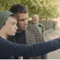 Memes, 🤖, and Dublin: Liam Gallagher meets some young fans in Dublin and then finds out that they don't have tickets for his gig...👏 🎥 @charlielightening